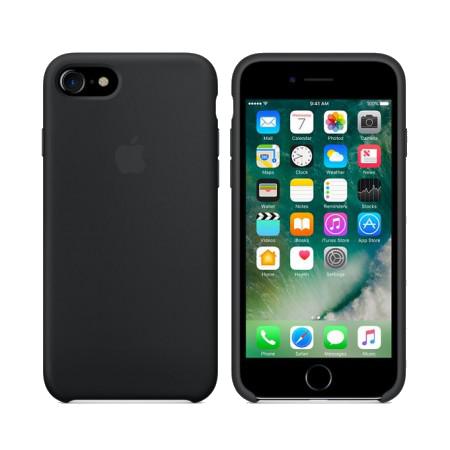 Силиконовый чехол черного цвета для iPhone 7+ / 8+