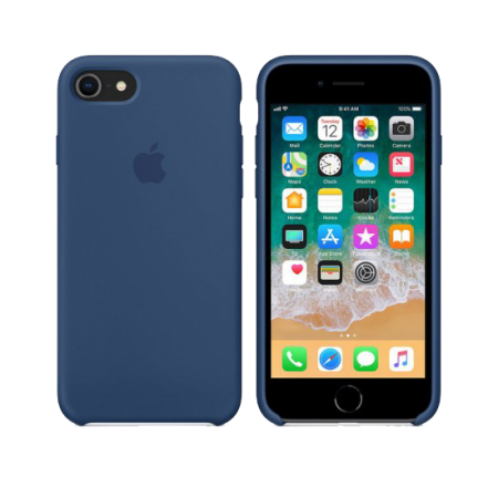 Силиконовый чехол цвета «темный кобальт» для iPhone 7 / 8 (копия)