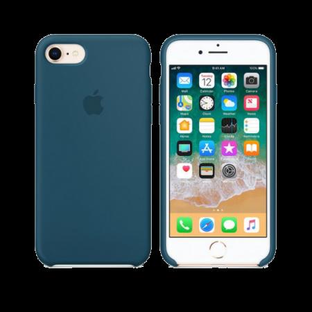Силиконовый чехол цвета «космический синий» для iPhone 7 / 8 (копия)