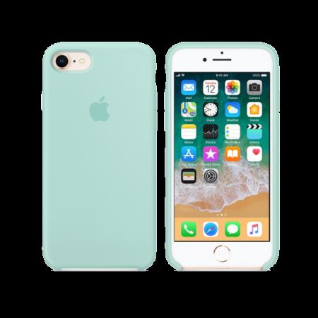 Силиконовый чехол цвета «зеленая лагуна» для iPhone 7 / 8 (копия)
