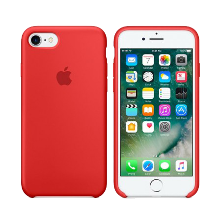 Силиконовый чехол красного цвета для iPhone 6s (копия)