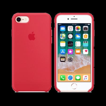 Силиконовый чехол цвета «спелая малина» для iPhone 7 / 8 (копия)
