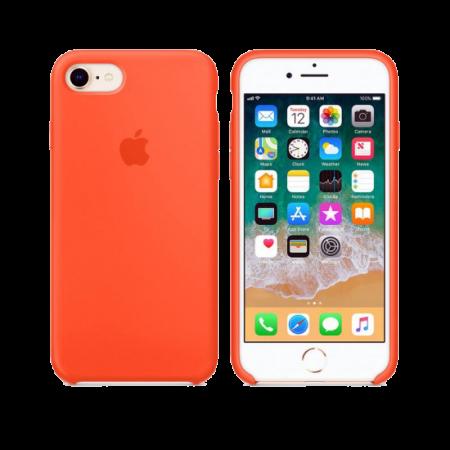 Силиконовый чехол цвета «оранжевый шафран» для iPhone 7 / 8 (копия)