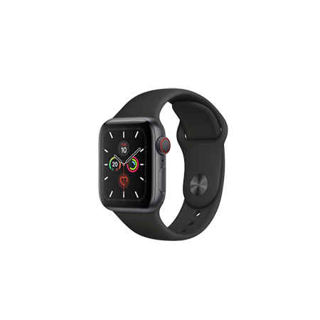 Apple Watch S4 40 mm Space Gray Aluminum Case Sport Band Black