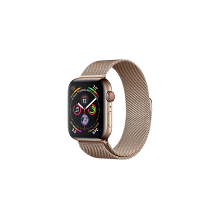 Apple Watch S4 40 mm Gold Stainless Steel Case Milanese Loop Gold GPS/Cellular