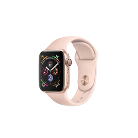 Apple Watch S4 40 mm Gold Aluminum Case Sport Band Pink Sand