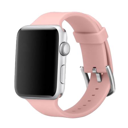 Спортивный ремешок цвета «сочный персик» для Apple Watch 38/40 мм (копия)