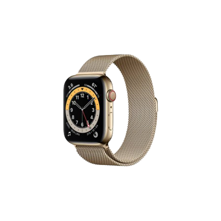 Apple Watch S6 40 mm Gold Stainless Steel Case with Milanese Loop Gold M02X3