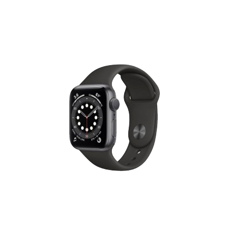 Apple Watch S6 40 mm Space Gray Aluminum Case Sport Band Black MG133