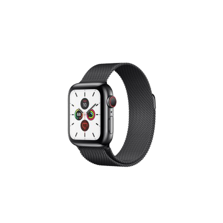 Apple Watch S5 40 mm Space Black Stainless Steel Case with Milanese Loop GPS + LTE MWWX2