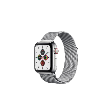 Apple Watch S5 40 mm Silver Stainless Steel Case with Milanese Loop GPS + LTE MWWT2