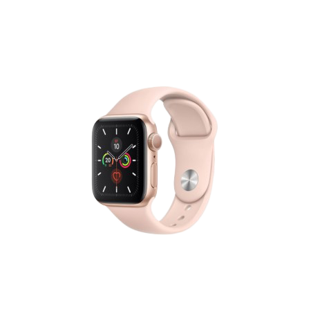 Apple Watch S5 40 mm Gold Aluminum Case Sport Band Pink Sand GPS MWV72