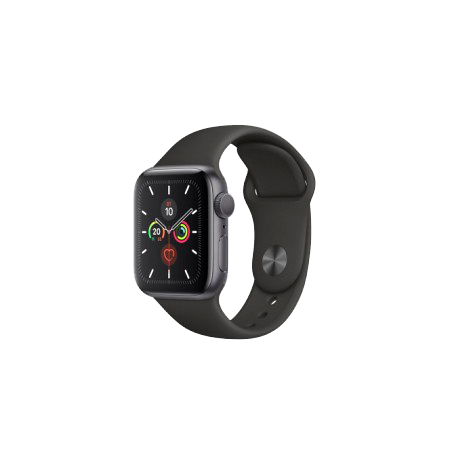 Apple Watch S5 40 mm Space Gray Aluminum Case Sport Band Black GPS MWV82