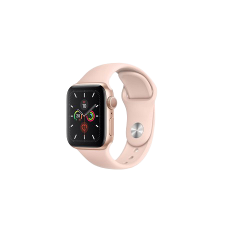 Apple Watch SE 40 mm Gold Aluminum Case Sport Band Pink Sand MYDN2