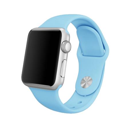 Спортивный ремешок цвета «голубое небо» для Apple Watch 38/40 мм (копия)