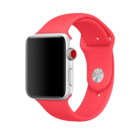 Спортивный ремешок цвета «камелия» для Apple Watch 38/40 мм (копия)