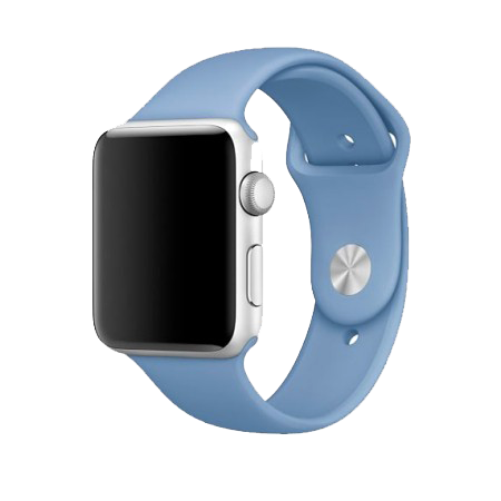 Спортивный ремешок лазурного цвета для Apple Watch 38/40 мм (копия)