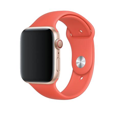 Спортивный ремешок цвета «спелый нектарин» для Apple Watch 38/40 мм (копия)