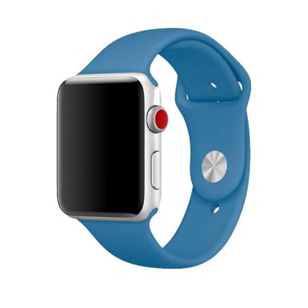 Спортивный ремешок цвета «синий деним» для Apple Watch 38/40 мм (копия)