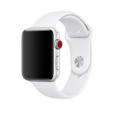 Спортивный ремешок белого цвета для Apple Watch 38/40 мм (копия)
