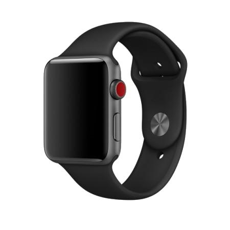 Спортивный ремешок серого цвета для Apple Watch 38/40 мм (копия)