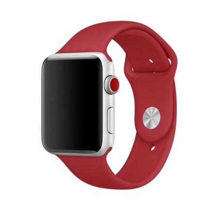 Спортивный ремешок красного цвета для Apple Watch 38/40 мм (копия)