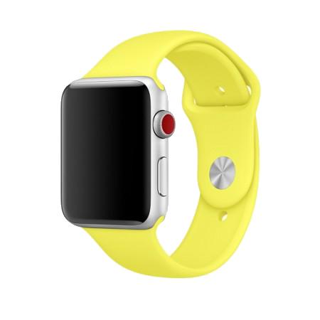 Спортивный ремешок цвета «желтый неон» для Apple Watch 38/40 мм (копия)