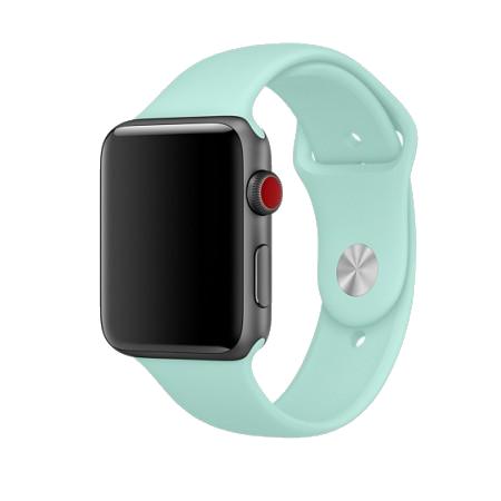 Спортивный ремешок цвета «зеленая лагуна» для Apple Watch 38/40 мм (копия)