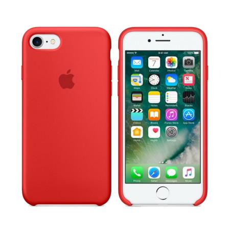 Силиконовый чехол красного цвета для iPhone 7 / 8 (копия)