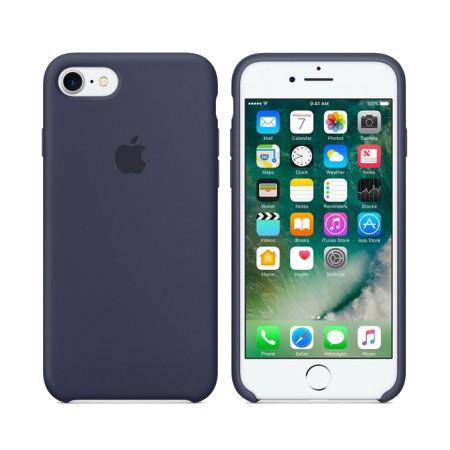Силиконовый чехол тёмно-синего цвета для iPhone 7 / 8 (копия)
