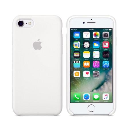 Силиконовый чехол белого цвета для iPhone 7 / 8 (копия)