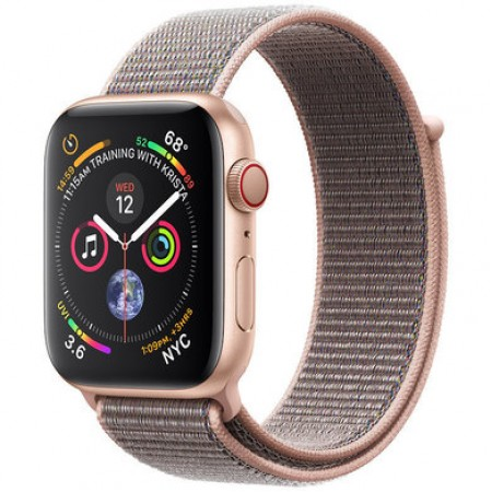 Apple Watch S4 40 mm Gold Aluminum Case Sport Loop Pink Sand