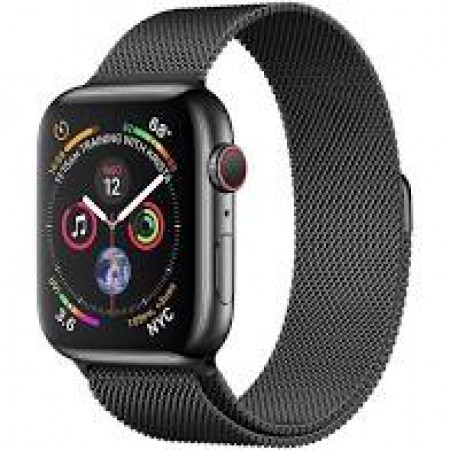 Apple Watch S4 40mm Space Black Stainless Steel Case Milanese Loop Space Black GPS/Cellular