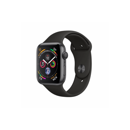 Apple Watch S4 40mm Space Black Stainless Steel Case Sport Band Black GPS/Cellular