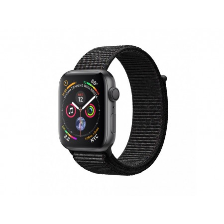 Apple Watch S4 40 mm Space Gray Aluminum Case Sport Loop Black